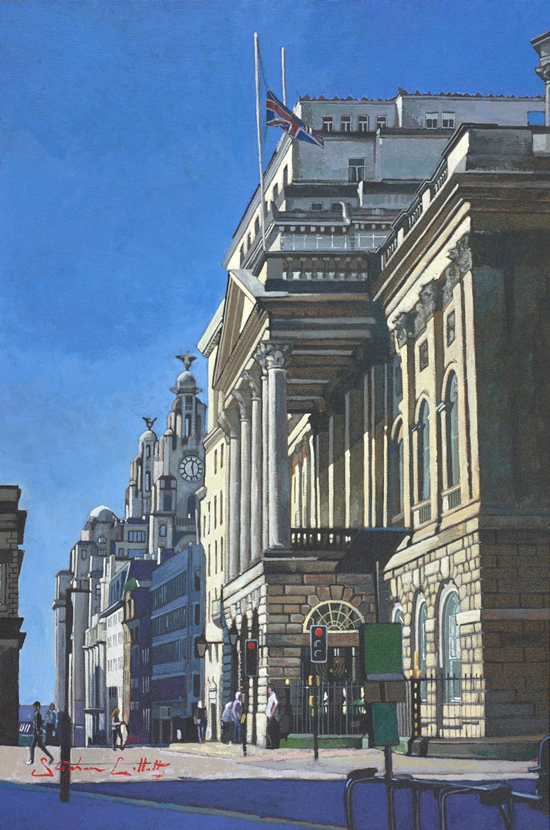 Liverpool, Town Hall and Liver Building